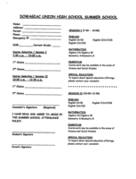DUHS summer school registration form