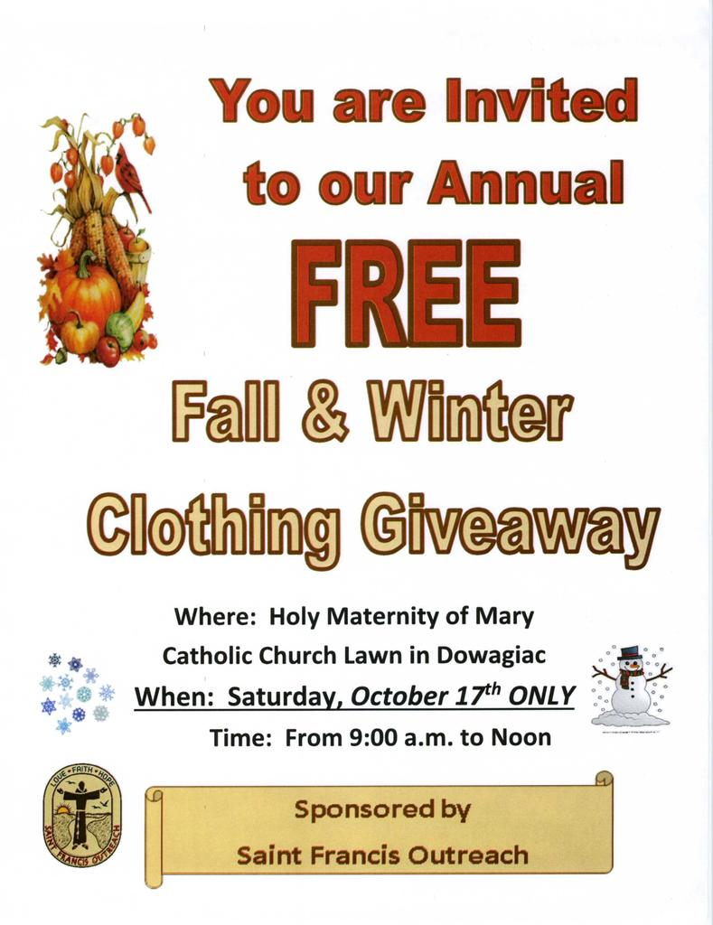 Clothing Give Away