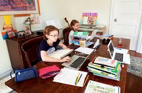 Image of students learning from home