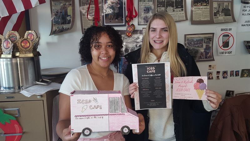 "Winners of the 1st annual Food Truck Challenge are Kyleah HIll and Jenna Davis  ""Iced Cafe"""